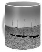 Dinghies Moored Off Of Leigh On Sea Essex Coffee Mug
