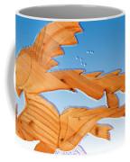 Dinosaur Fish With Bubbles Coffee Mug
