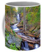 Distant Ozone Falls And Rapids In Autumn Coffee Mug