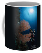 Diver By Sea Fans, Indonesia Coffee Mug