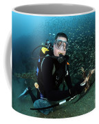 Diver Collects Invasive Lionfish Coffee Mug