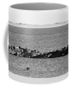 Diving Coney Island In Black And White Coffee Mug