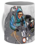Diving In The Ice Coffee Mug by Heiko Koehrer-Wagner