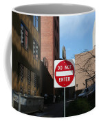 Do Not Enter Coffee Mug