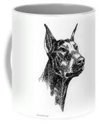 Doberman-pincher-portrait Coffee Mug