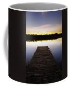 Dock At Sunset Coffee Mug