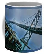 Dock By The San Francisco Bay Bridge Coffee Mug