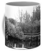 Dock On The River In Black And White Coffee Mug