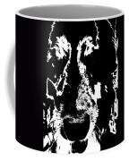 Dog Abstract Black And White Coffee Mug