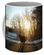 Dog In Morning Sun Coffee Mug