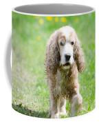 Dog On The Green Field Coffee Mug