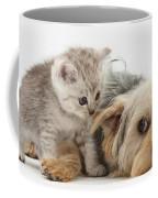 Dog Surrendering To Kitten Coffee Mug