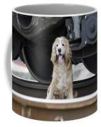 Dog Under A Train Wagon Coffee Mug
