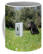Dog Watching Tv Coffee Mug