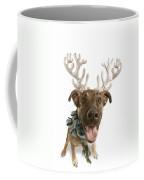 Dog With Antlers Coffee Mug