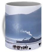 Dogs Play Outside In Rinchenlhumbe Coffee Mug