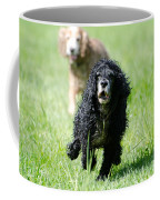 Dogs Running On The Green Field Coffee Mug
