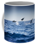 Dolphins Playing In The Ocean Coffee Mug