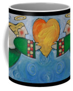 Double Angels With Heart Coffee Mug