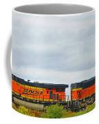 Double Bnsf Engines Coffee Mug