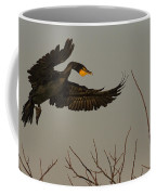 Double Crested Cormorant Coming Coffee Mug