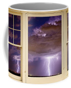 Double Lightning Strike Picture Window Coffee Mug