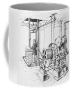 Double Oscillating Steam Engine Coffee Mug