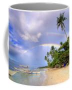 Double Rainbow At The Beach Coffee Mug by Yhun Suarez