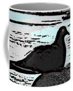 Dove At The Beach Coffee Mug