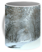 Down A Winter Road Coffee Mug