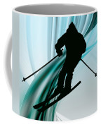 Downhill Skiing On Icy Ribbons Coffee Mug