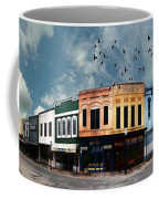 Downtown Bryan Texas Panorama 5 To 1 Coffee Mug