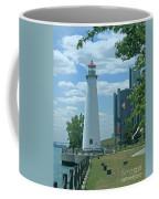 Downtown Detroit Lighthouse Coffee Mug