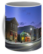 Downtown Waterville At Christmastime Coffee Mug