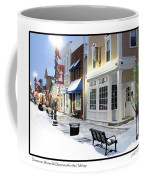 Downtown Waterville Decorated For The Holidays Coffee Mug