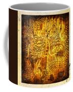 Dragon Painting On Old Paper Coffee Mug by Setsiri Silapasuwanchai