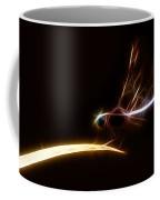 Dragonfly On Golden Blade Coffee Mug
