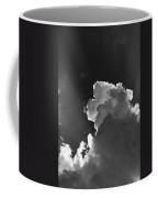 Dramatic Black And White Sunbeams And Storm Clouds Maine Fine Art Print Coffee Mug