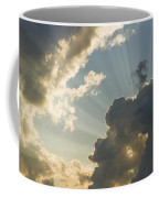 Dramatic Sunbeams And Storm Clouds Maine Photo Poster Print Coffee Mug