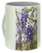 Draping Lavender Purple Wisteria Vines Coffee Mug