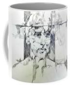 Drawing Of A Man Coffee Mug