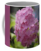 Dreamy Pink Mophead Hydrangea Squared Coffee Mug
