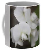Dreamy White Sweet Pea Squared Coffee Mug
