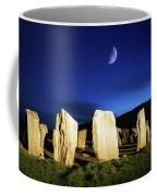 Drombeg, County Cork, Ireland Moon Over Coffee Mug