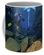 Dry Suit Divers In Gin Clear Waters Coffee Mug