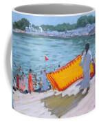 Drying Sari Pushkar  Coffee Mug