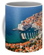 Dubrovnik Old City Aerial View Coffee Mug