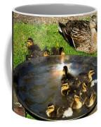 Duck Family Joy In Garden  Coffee Mug