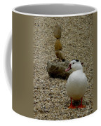 Duck With Rock Sculpture Coffee Mug