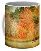 Ducks In An Autumn Pond Coffee Mug